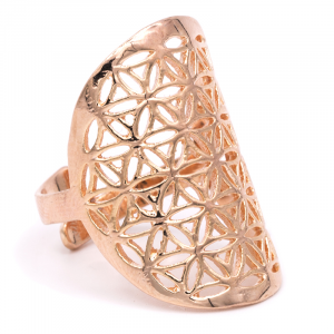 Ring Flower des Leven Brass Pink Gold color