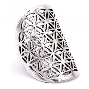 Ring Flower des Leven Brass Silver color