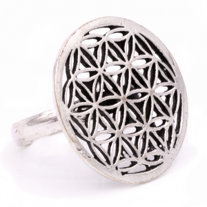 Ring Flower of Life Silver color