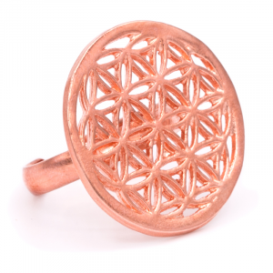 Ring Flower of Life Copper color