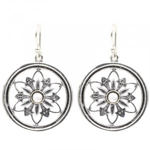 Earrings Flower with Moonstone
