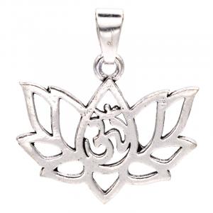 Pendant Lotus Brass Silver Colour
