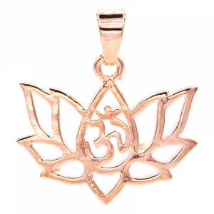 Pendant Lotus Brass Pink Gold color