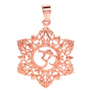 Pendant Ohm Lotus Copper color