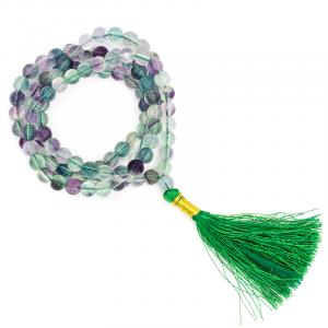 Mala Fluorite AA Quality 108 beads plus Brocade bag