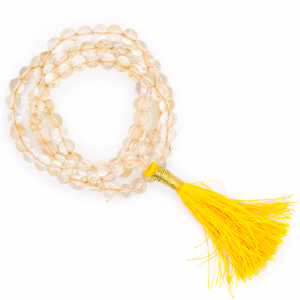 Mala Citrien AA Quality 108 beads plus Brocade bag