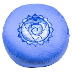 Meditation cushion 5th Chakra Vishuddha Embroidered