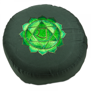 Meditation cushion 4th Chakra Anahata Embroidered