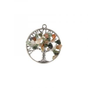 Agate Furnished Tree Pendant (30 mm)