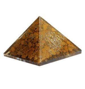 Orgonite Pyramid - Throat Chakra - Yellow Jasper