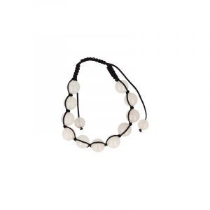 Jade White Shamballa Bracelet (10 mm)