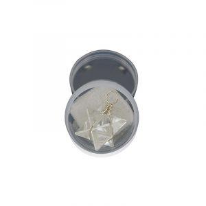 Merkabah Pendant in Box - Rock Crystal