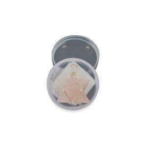 Merkaba Pendant in Box - Pink Quartz