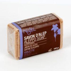 Organic Aleppo Olive soap Violet