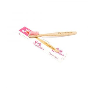 Vegan Children's toothbrush - Pink