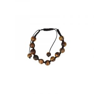 Tiger eye Shamballa Bracelet (10 mm)