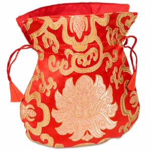 Brocade bag Lotus Red
