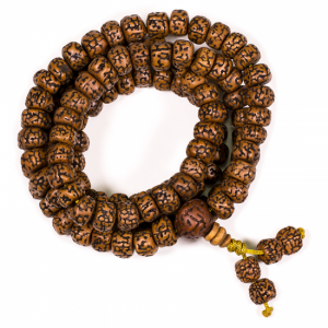 Mala Rudraksha  Minerals 108 Beads (1 cm)