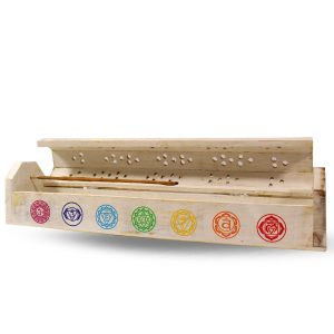 Incense Holder and Storage Box with Chakra Symbols