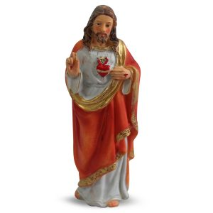 Beeld van Jezus Heilig Hart (12 cm - 6 stuks)