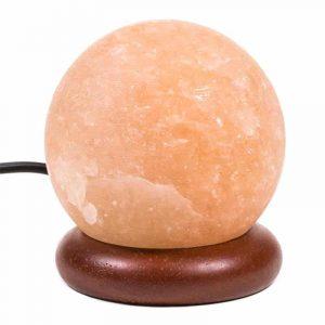 Himalayan Mini Salt Lamp Sphere Orange USB