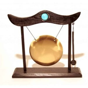 Table Gong With Knocker And Wooden Frame