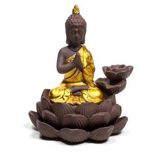 Backflow Waterfall Incense Burner Buddha