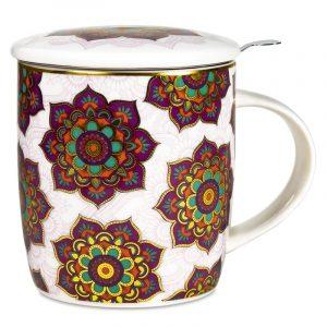Tea Mug Set Mandala Red