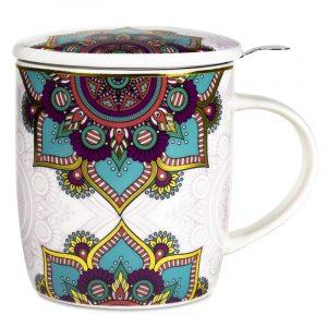 Tea Mug Mandala Set Turquoise