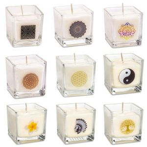 Set of 9 Rapeseed Wax Scented Candles