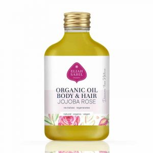 Vegan Skin/Hair Oil Jojoba Rose BIO
