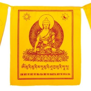 Tibetan Prayer Flags Shakyamuni Buddha
