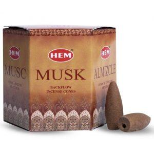 HEM Backflow Incense Cones Musk (12 cones)