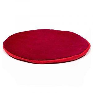 Singing Bowl Flat Round Dark Red Coaster