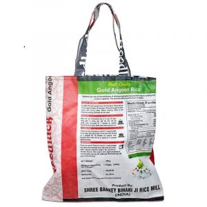 Recycled Textile bag Rice bags - Vintage (39 x 38 cm)