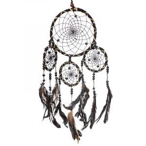 Dreamcatcher Black with Feathers (15 x 40 cm)