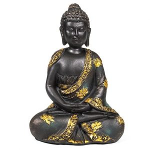Meditation Buddha Antique Finish -16 cm
