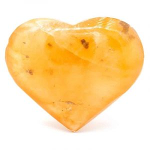 Heart Cuddly stones Selenite Orange (5.5 x 4.5 cm)