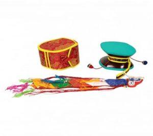 Mystic Ritual Drum (Damaru) with Red Bag