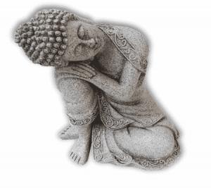 Restful Buddha Stone grey - 19.5 cm