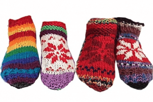 Meditation Slippers Wool Assorted Small