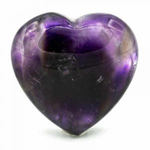 Hearts Cuddly stones Amethyst Phantom