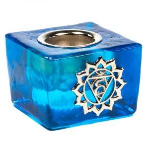 Candle Holder Cube - Throat Chakra