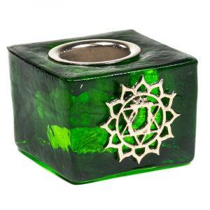 Candle Holder Cube - Heart Chakra