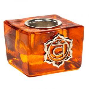 Candle Holder Cube - Sacral Chakra