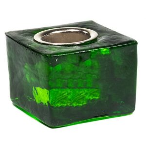 Candle Holder Cube - Green for 22 mm Candle Stick