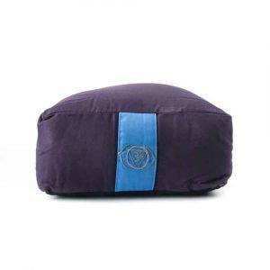 Yogi and Yogini Meditation Cushion Rectangular Cotton Indigo - 6th Chakra - 38 x 28 x 15 cm