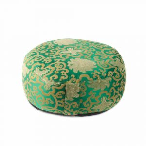 Meditation Cushion Green Lotus Pattern