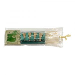 Gift Set Incense Cones with Cone Burner Elephant (Turquoise)