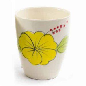 Ceramic coffee or Tea Mug Flower